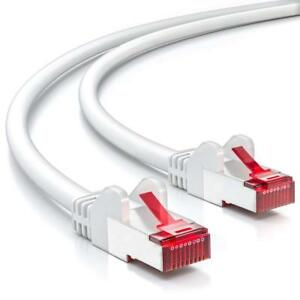 CABLE RESEAU RJ45 10M CAT6 BLANC - Declic Informatique