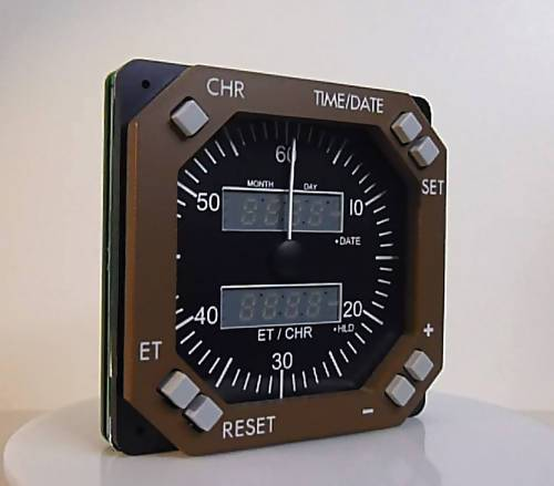 GSA-071 CHRONOMETER/CLOCK BROWN BOEING STYLE - Simplace.co