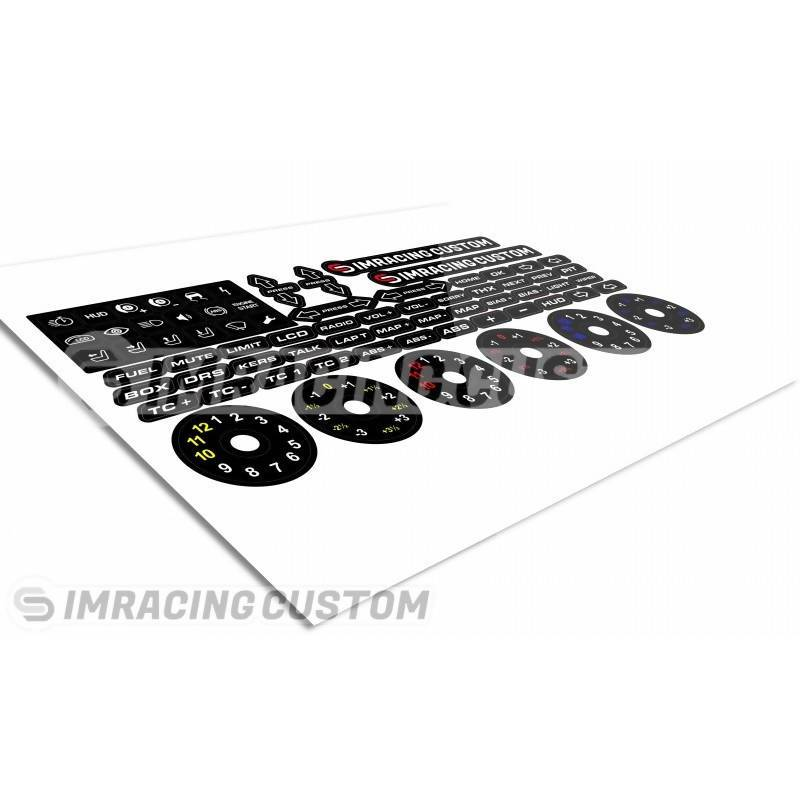 Simracing Custom Wheel Stickers - Simplace.co