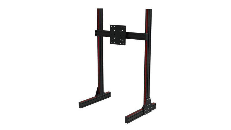 TR8020 Black Aluminium Floor Single Monitor Stand with VESA Mount - Simplace.co