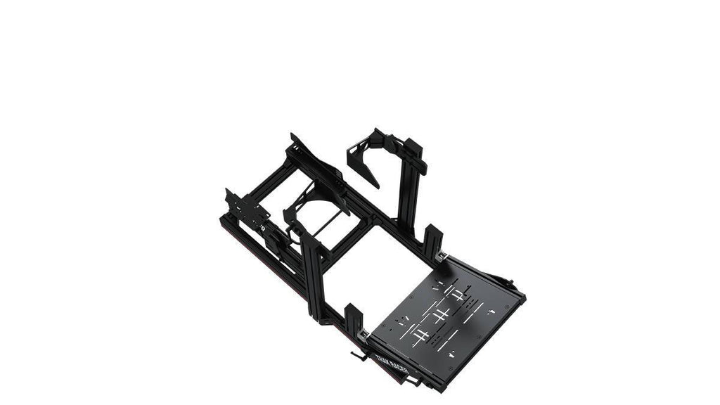 TR8020 Black TR80 Mach 2 80mm x 40mm Aluminium Cockpit with FANATEC PODIUM DD1 DD2 Wheel Mount - Simplace.co