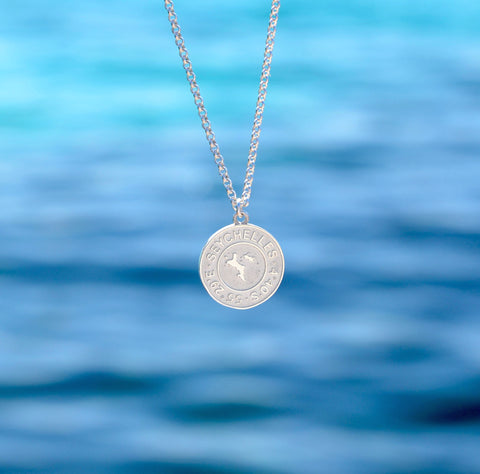 Coin Silver Necklace `Seychelles