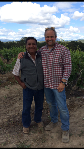 Gus Gamba with Hector Garcia, vineyard manager