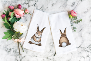 Bunny Butt and Front Tea Towel