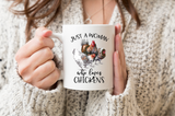 Just a Woman Who Loves Chickens Coffee Mug Gift
