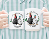 Just a Woman Who Loves Peckers Coffee Mug Gift