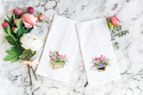 Spring Flowers Towel - Easter Decor Flour Sack