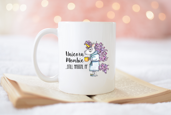Unicorn Zombie Mom Mug - Sarcasm Coffee Cup- Funny Gift for Mom - Unicorn Mombie