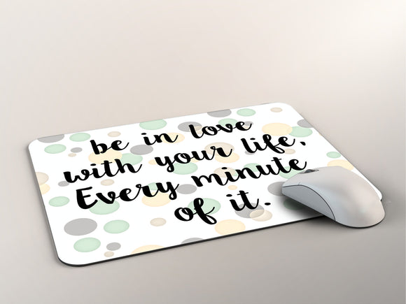 Inspirational Mouse Pad -  Custom Mouse Pad - Gift for Her - Desk Accessory - Computer Accessory - Christmas Gift - Secret Santa Gift