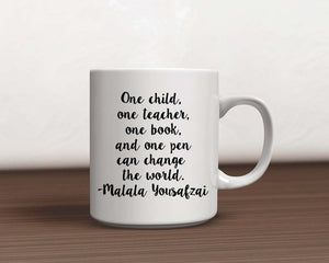 Inspirational One Child, One Teacher Quote Coffee Mug