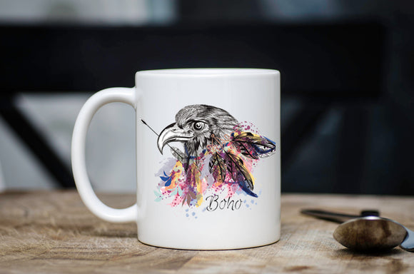 Boho Tribal Eagle Coffee Mug
