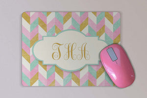 Personalized Monogrammed Mouse Pad - Custom Mousepad Gift - Mother's Day or Birthday Gift - Gift for Her - Desk Accessory
