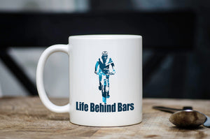 Life Behind Bars Bicycle Coffee Mug