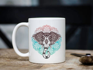 Boho Triabl Elephant Coffee Mug