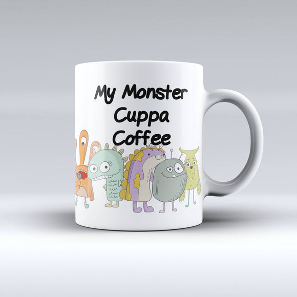 Watercolor Monster Coffee Mug