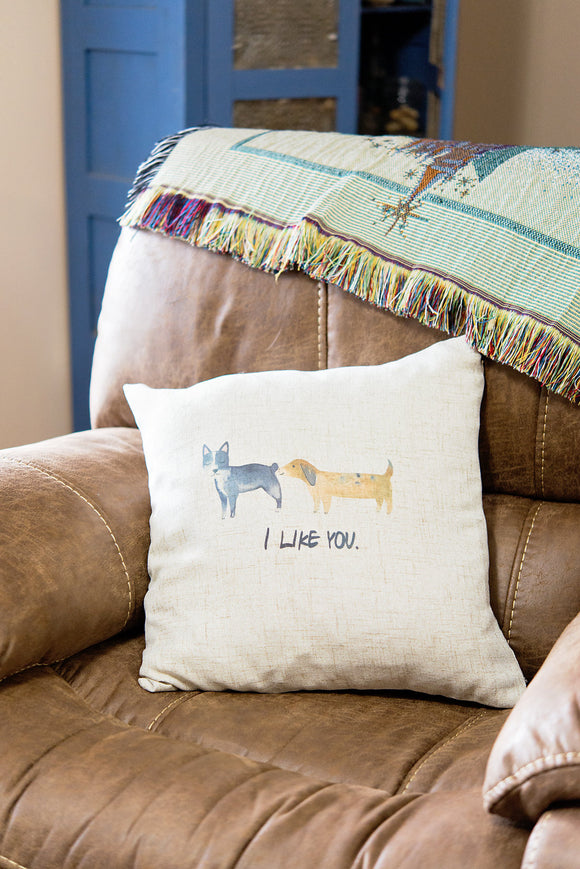 Funny I Like You Dog Pillow Cover