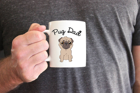 Pug Mom or Pug Dad Coffee Mug