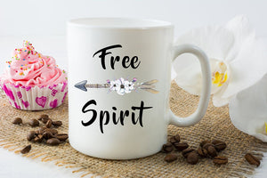 Boho Free Spirit Arrow Mug
