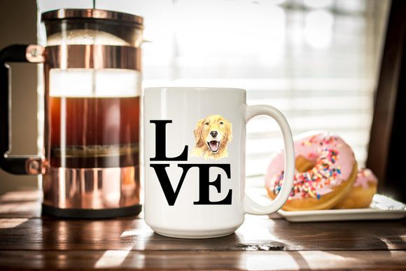 Golden Retriever Coffee Mug Gift - Golden Mom or Dad - Dog Lover Gift - Birthday Present - Golden Mug  - Sublimated Coffee or Tea Mug