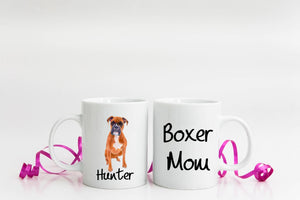 Personalized Boxer Mom Coffee Mug Gift - Boxer Mom - Dog Lover Gift - Birthday Present - Mother's Day Gift  - Sublimated Coffee or Tea Mug