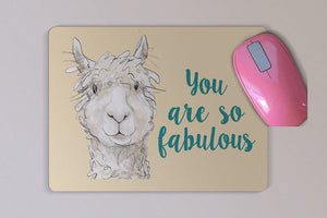 Inspirational Llama Custom Mouse Pad - Personalized You Are Fabulous Mouse Pad - Desk Accessory - Computer Accessory - Birthday Present
