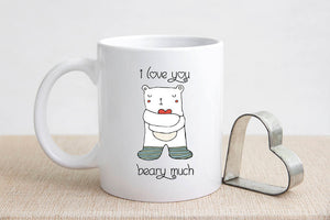 Valentine's Day I Love You Beary Much Coffee Mug