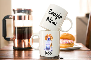 Personalized Beagle Mom Coffee Mug Gift