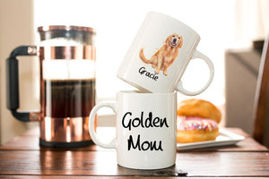 Personalized Golden Retriever  Mom Coffee Mug