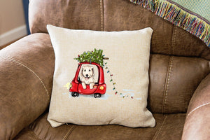 Christmas Golden Retriever Pillow Cover