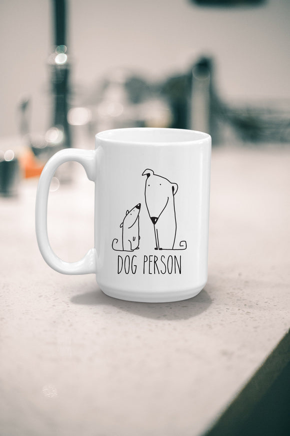 Dog Person Coffee Mug Gift