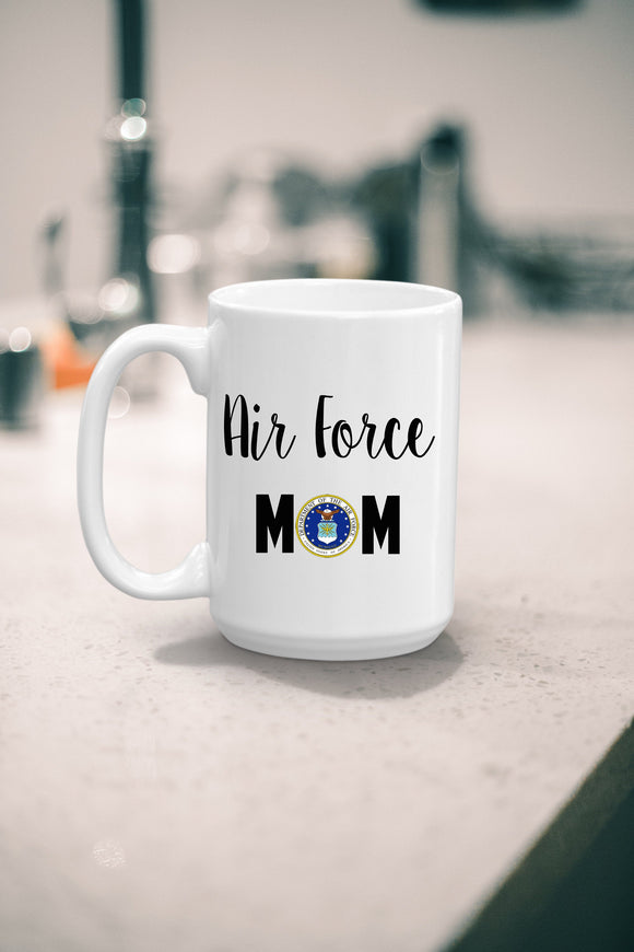 Military Mom Coffee Mug Gift - Airman Mom Gift - Military Mom Gift - Gift for Mom - Mother's Day - Dishwasher Safe Tea Mug