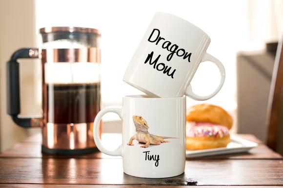 Personalized Bearded Dragon  Mom Coffee Mug - Gift for Bearded Dragon Moms