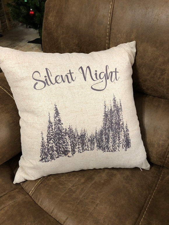 Decorative Silent Night Christmas Pillow Cover