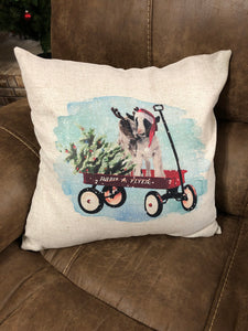 Christmas Baby Goat Decorative Pillow Cover -