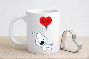 Dog Valentine's Day Coffee Mug