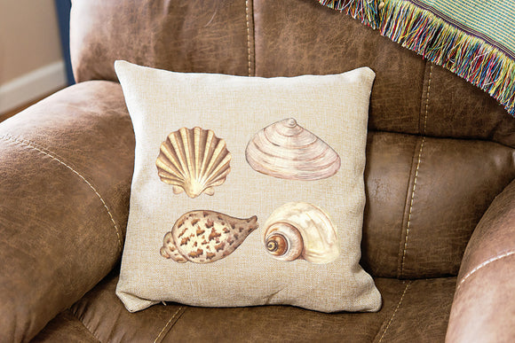 Beach House Sea Shells Pillow Cover