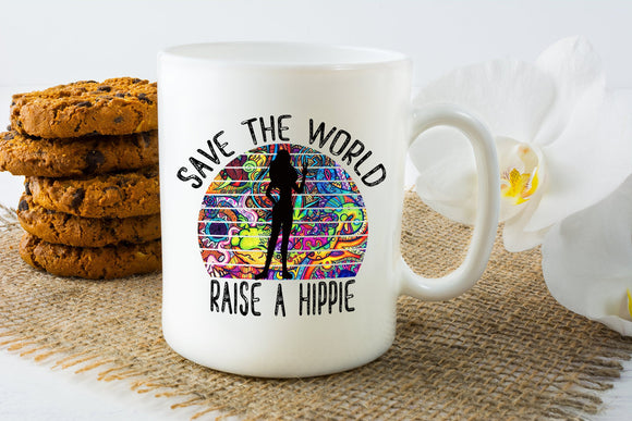Sassy Raise a Hippie Coffee Mug