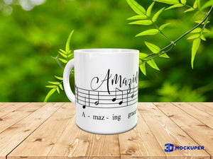 Amazing Grace Hymn Coffee Cup