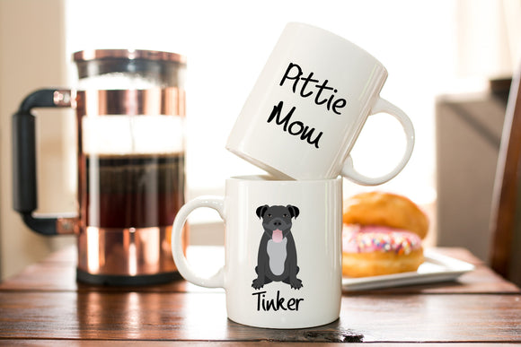 Personalized Pitbull Mom Coffee Mug Gift - Fur Mom Gift - Dog Lover Gift - Pit Bull Christmas or Birthday Gift -  Pitbull Coffee or Tea Mug