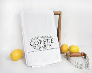 Coffee Bar Kitchen Tea Towel