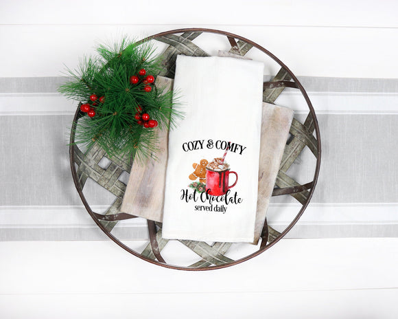 Christmas Cozy and Comfy Flour Sack Towel