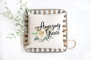 Amazing Grace Decorative Pillow Cover