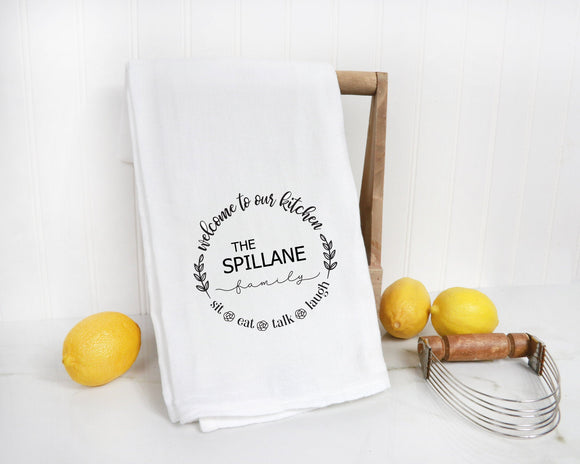 Welcome to Our Kitchen Personalized Kitchen Towel