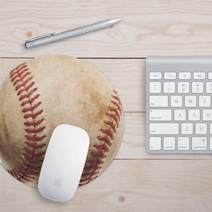 Baseball Lovers Mousepad - Baseball Mouse Pad - Sports Mouse Pad - Gift for Dad - Gift for Him - Funny Desk Accessory - Sports Gift