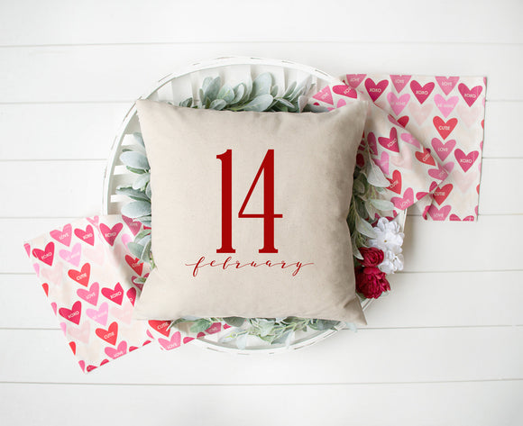 Valentine's Day February 14th Decorative Pillow Cover