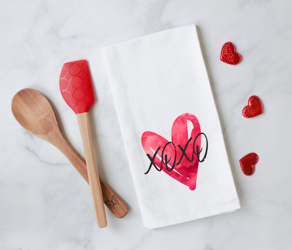 Valentine's Day XOXO Tea Towel