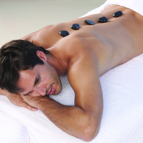 ESPA Mens Back, Face and Scalp Treatment with Hot Stones