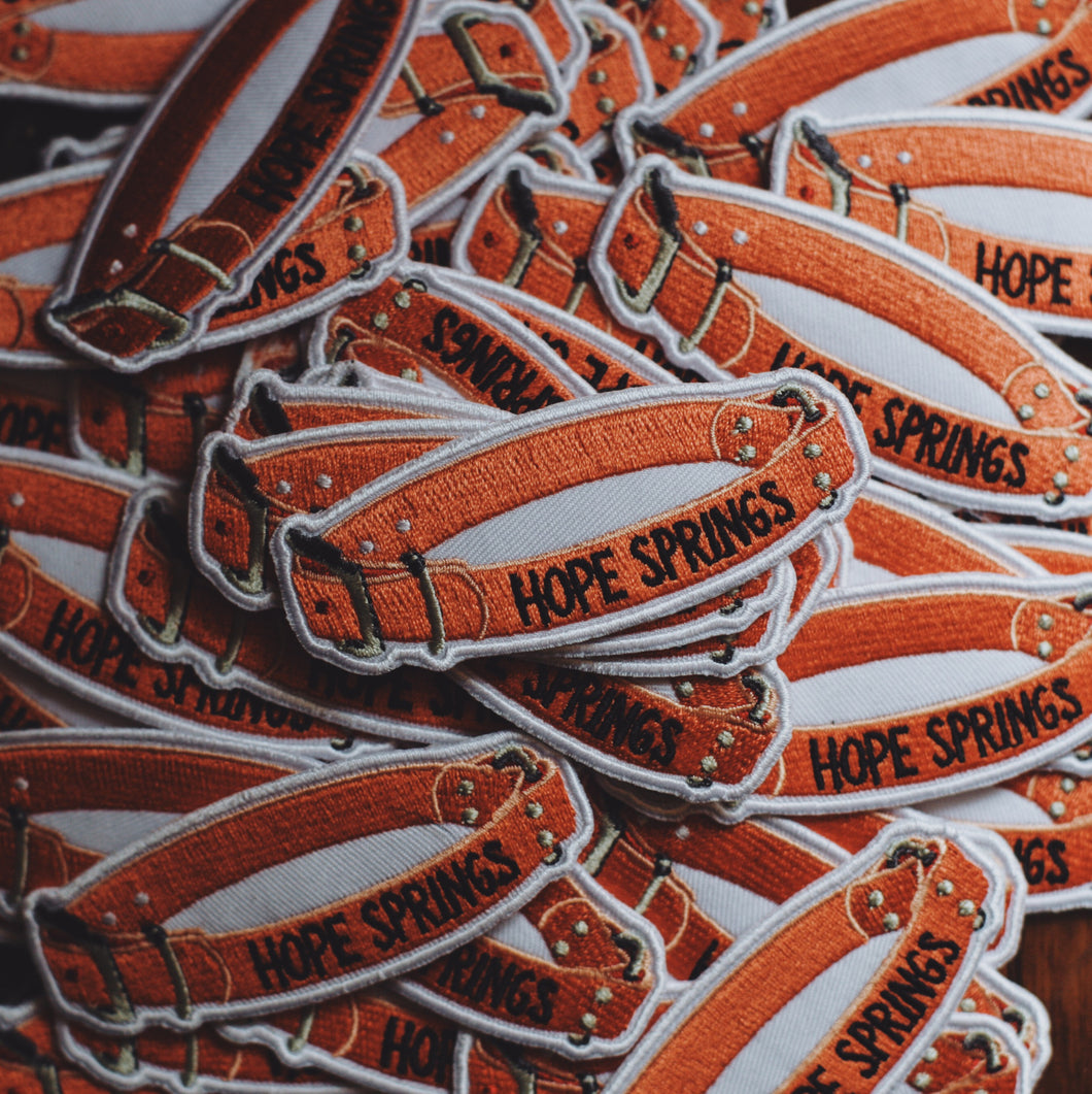 Hope Springs Dog Collar Patch