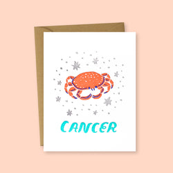Zodiac Cancer Greeting Card