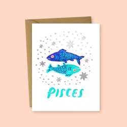 Zodiac Pisces Greeting Card